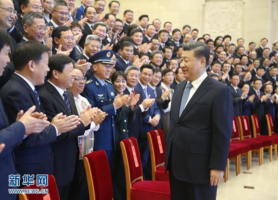 11月20日,党和国家领导人习近平、王沪宁等在北京会见全国精神文明建设表彰大会代表。.jpg
