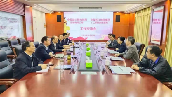 王海宁会见中盐集团副总经理敦忆岚